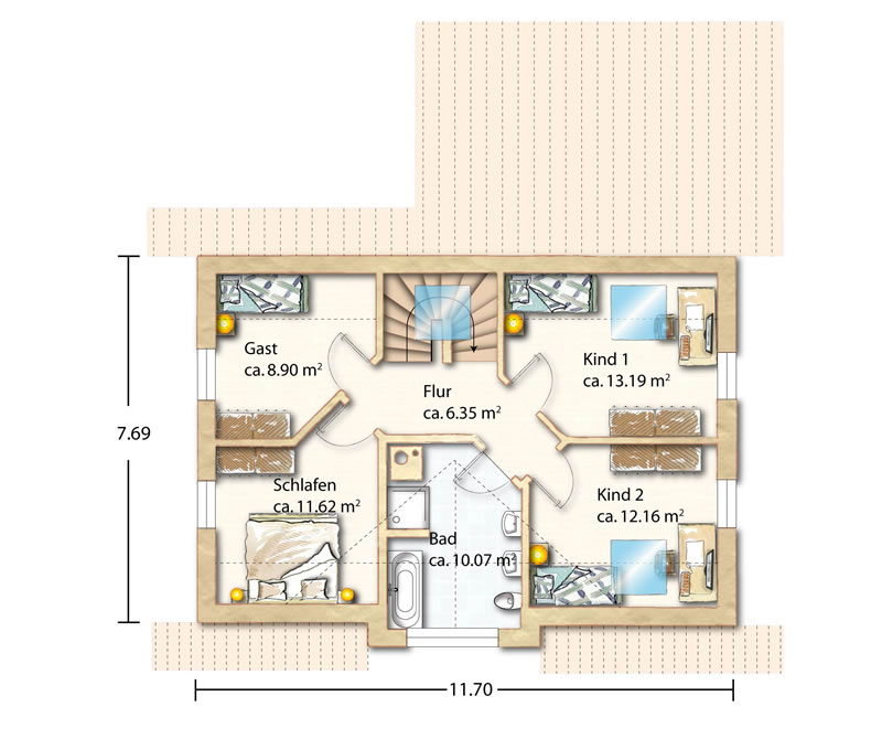holzhaus sanrit. Black Bedroom Furniture Sets. Home Design Ideas